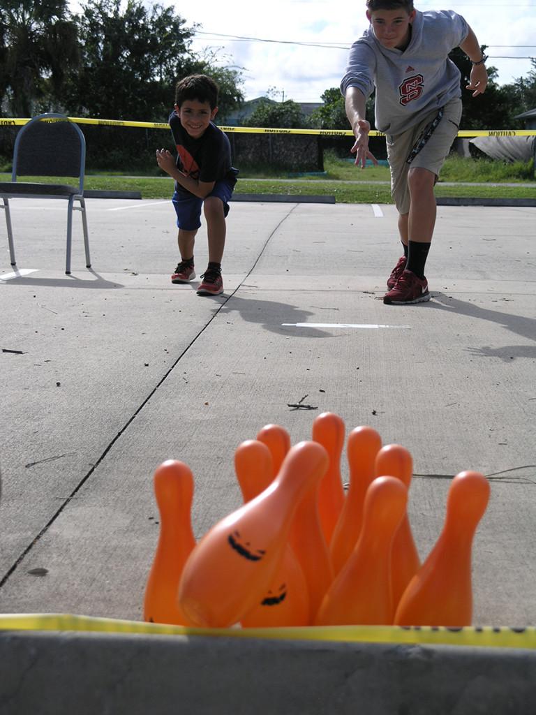 Bowling game at Fun Fair