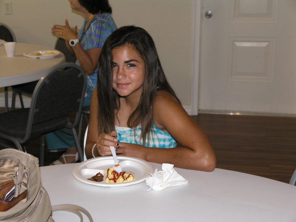 Teenager at Fellowship Meal