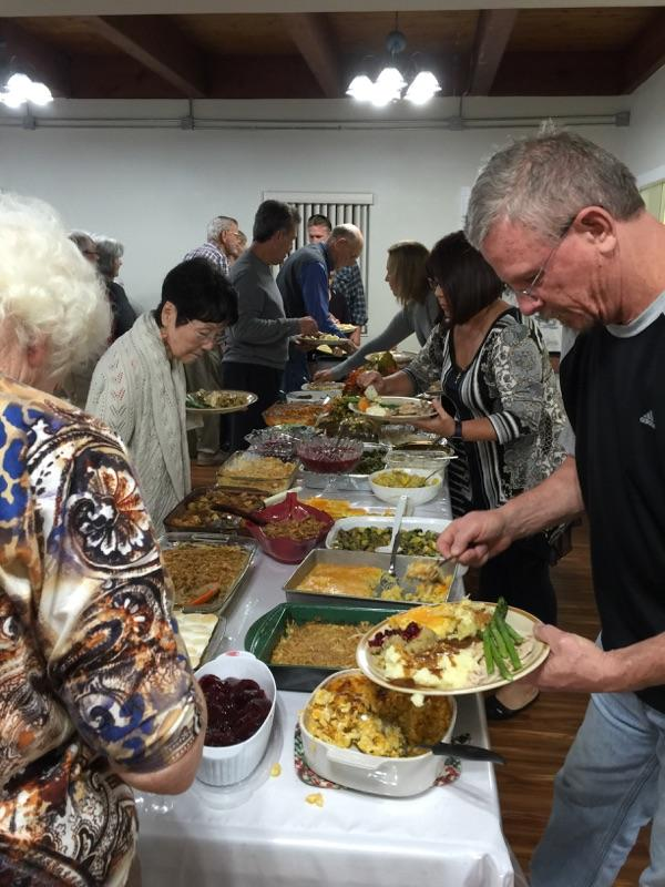 Meal line at church