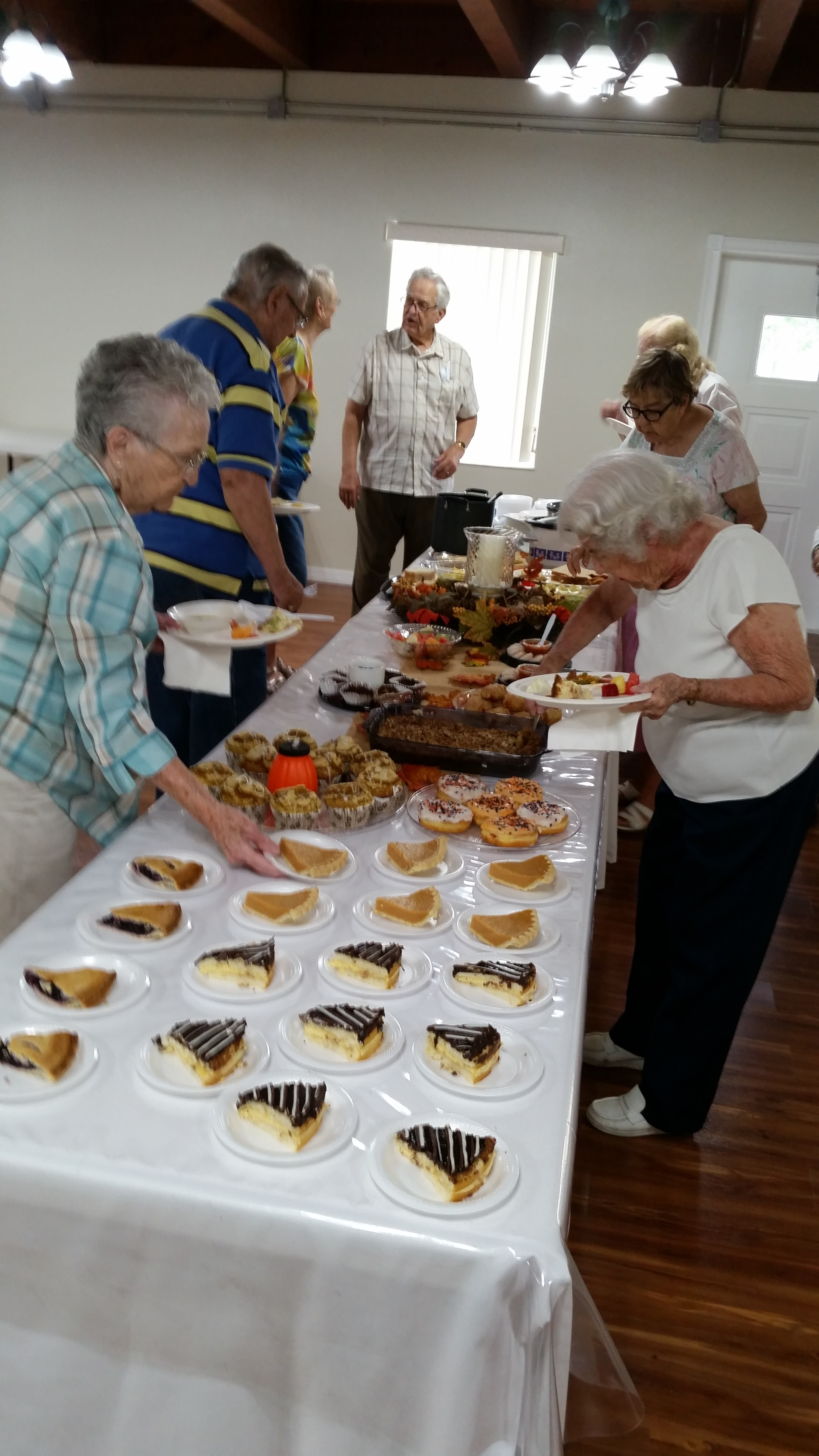 great food and senior fellowship