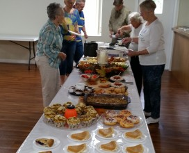 Senior fellowship food table