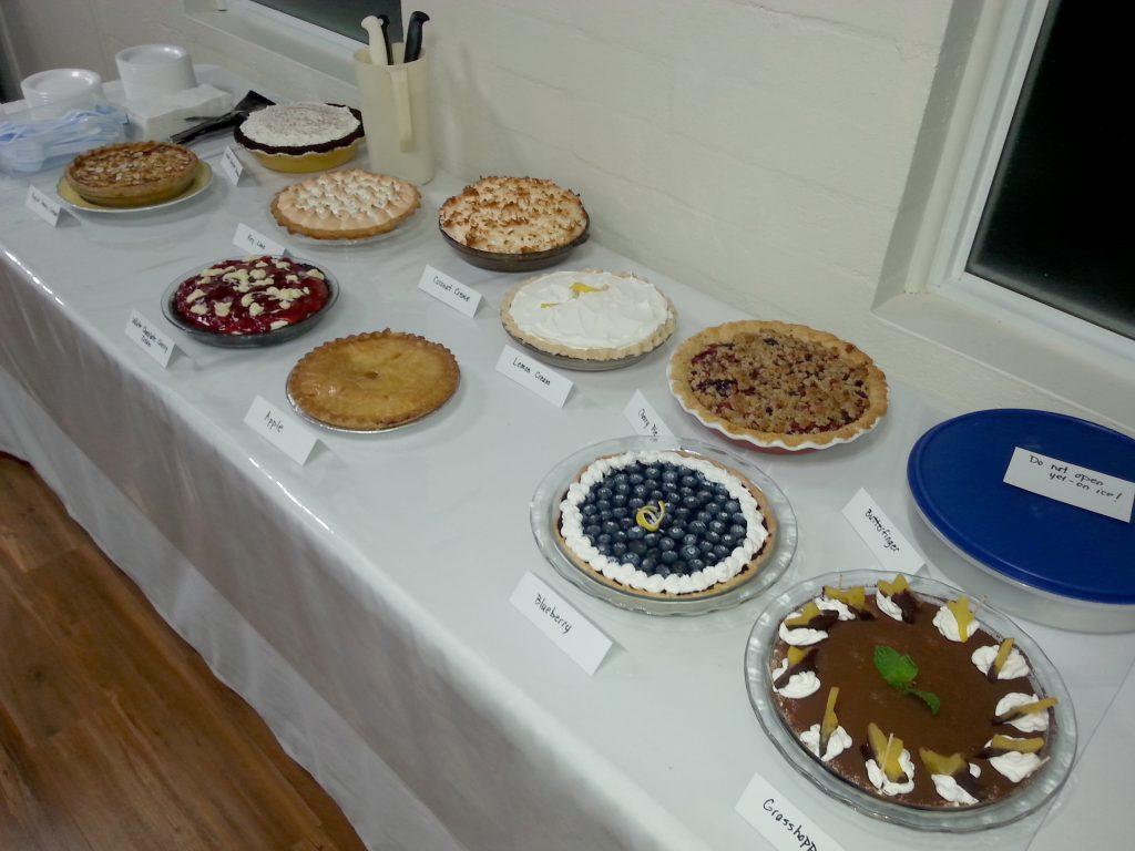 Eleven Pie Entries