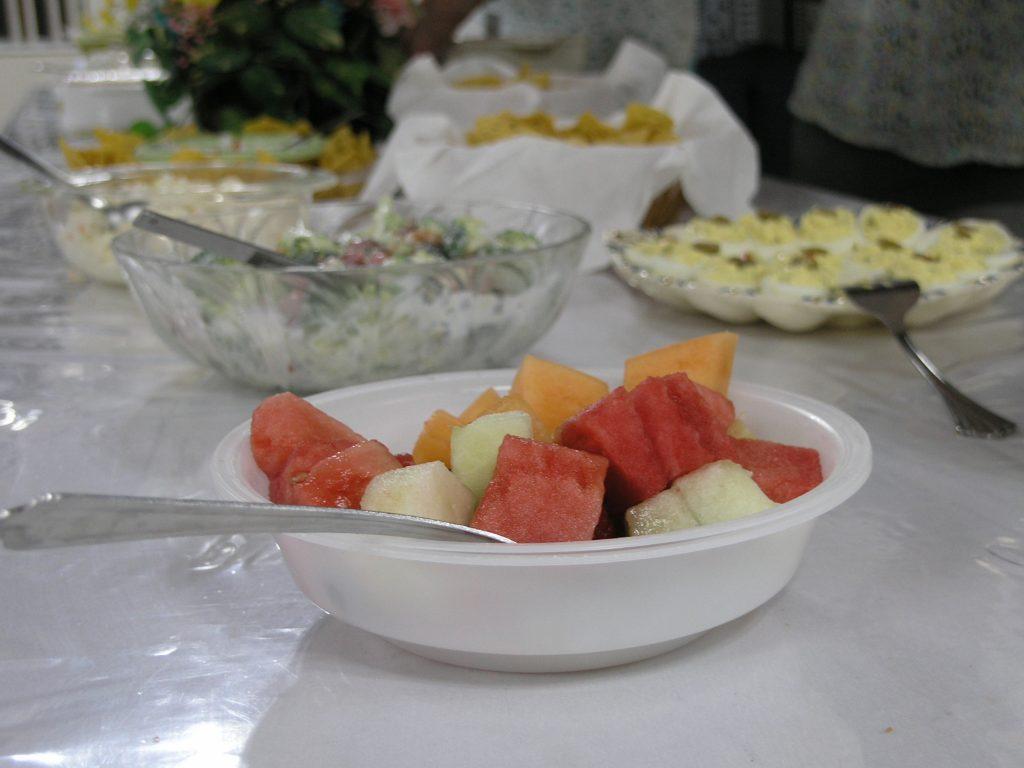 Bowl of fruit at Church