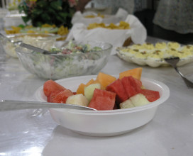 Bowl of fruit at Church