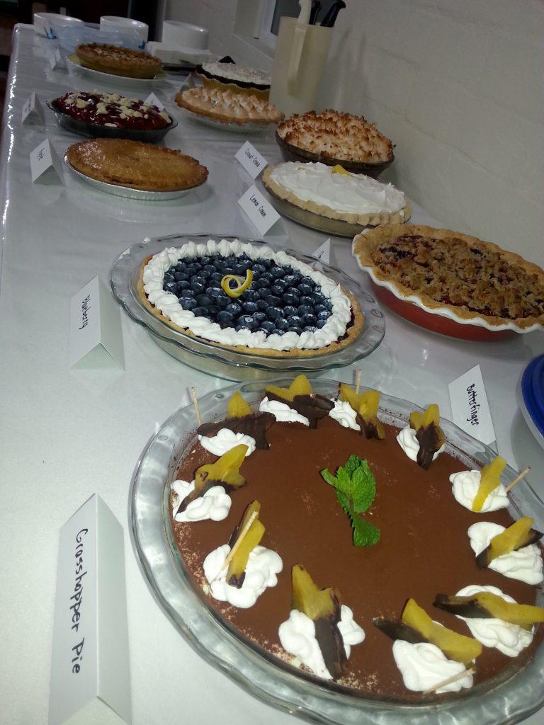 Pie Baking Contest Entries