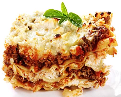Fellowship Meal featuring lasagna