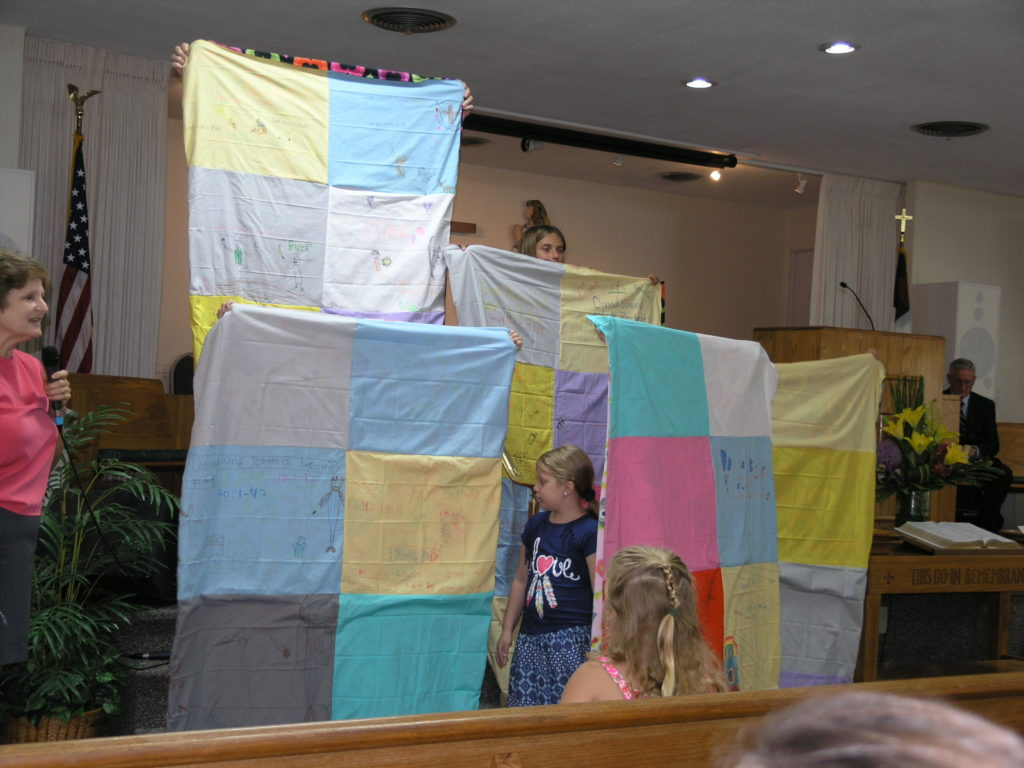 Quilts made by kids