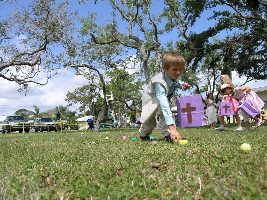 So many eggs at the church egg hunt