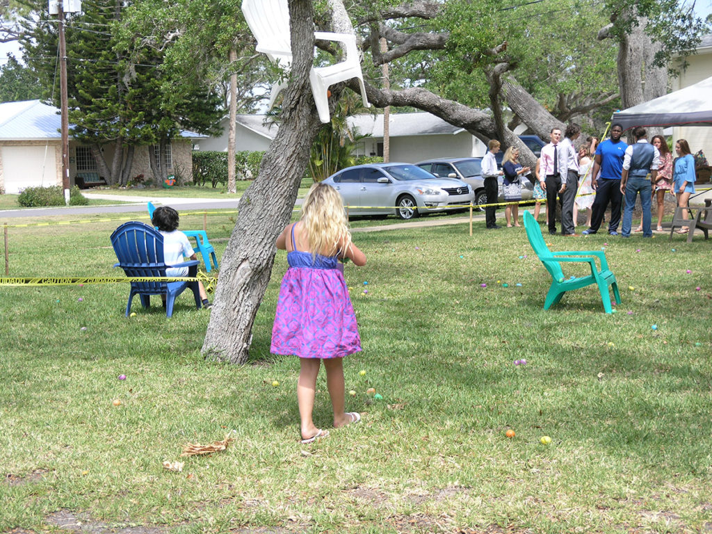 Teens watch the hunt for resurrection eggs
