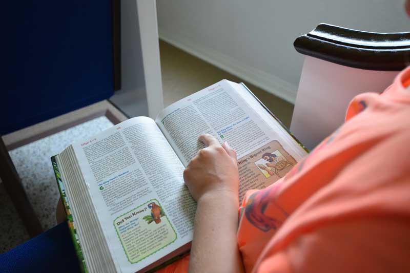 Children's Bible class at New Smyrna Beach Church