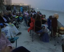 Beachside Easter Service near ocean