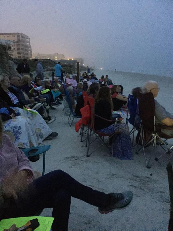 Beachside Easter Service near ocean