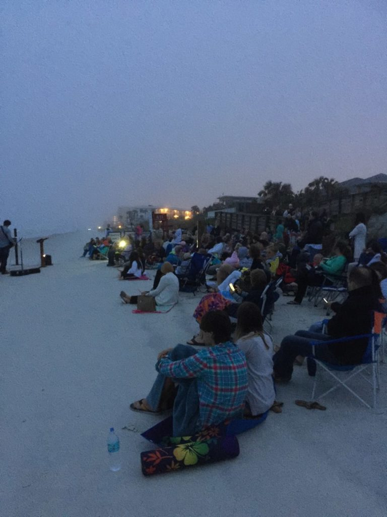 Easter service on beach