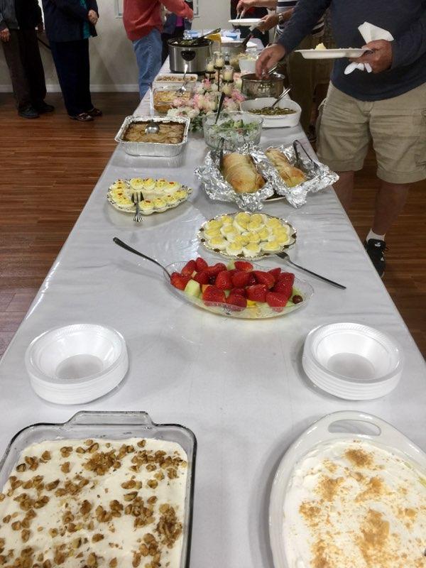 Church meal table