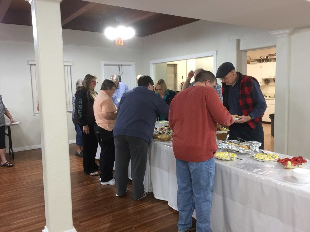 Get in line! Great Church Meal