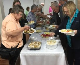 March fellowship meal at Beachside Baptist Church