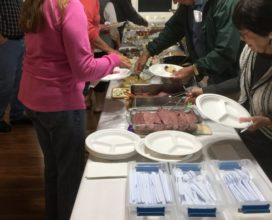 Beachside Baptist Church fellowship meal March 2018