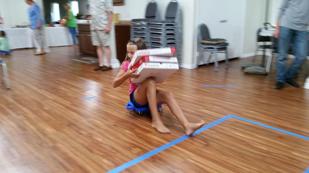 Pizza box race at NSB church