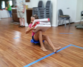 Pizza box race at NSB church