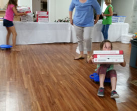 Round 3 of Pizza box race