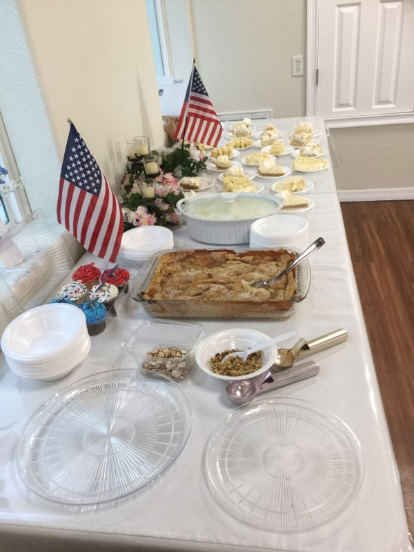 Dessert table at July 4