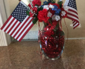 July 4 flower arrangement