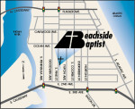 Map to Beachside Baptist Church